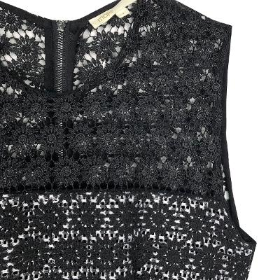 punching lace dress black&white